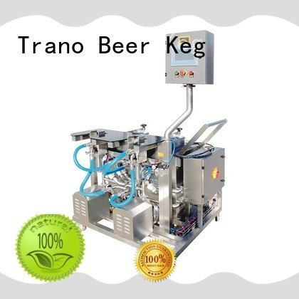 Trano automatic Beer Keg Three Heads Semi-Automatic Washer with good price for food shops