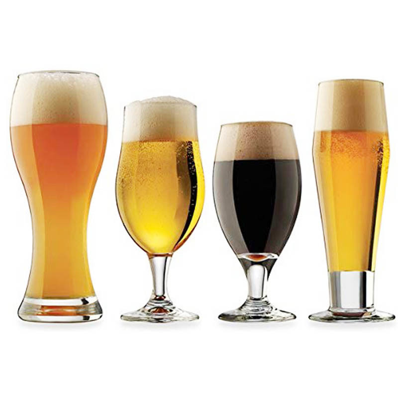 Glass beer glasses