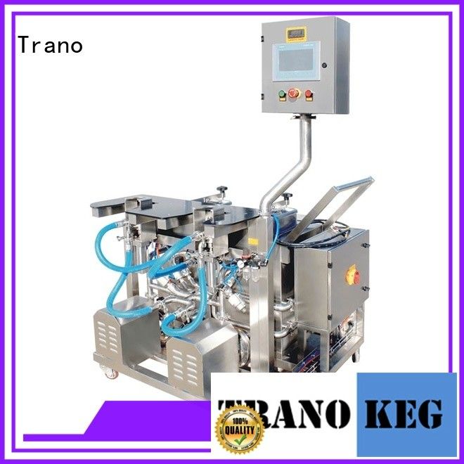 Trano practical beer keg filling And washing machine manufacturer for beverage factory