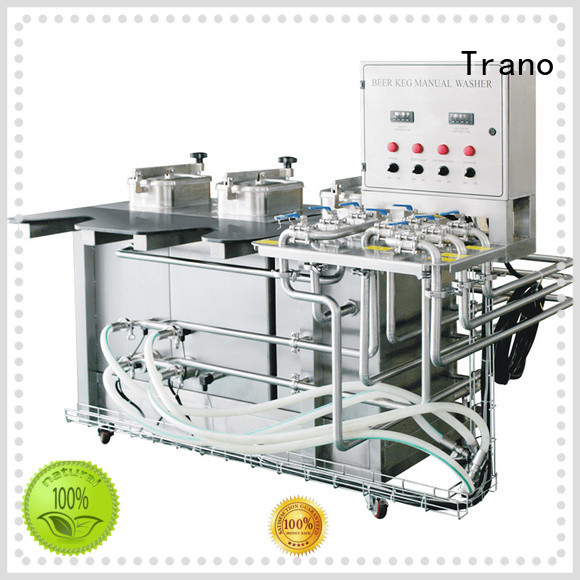 Trano semi-automatic commercial keg washer wholesale for beverage factory