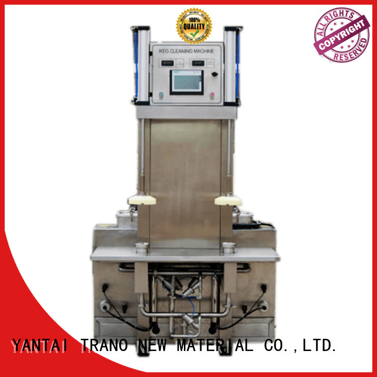 Trano Beer Keg Three Heads Semi-Automatic Washer manufacturer for beverage factory