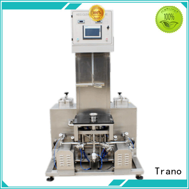Trano semi-automatic Beer Keg Three Heads Semi-Automatic Washer manufacturer for food shops